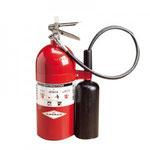 Extintor de CO2, para fuegos Clase B,C