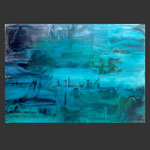 paisajes desde el submarino. proa. acrílico sobre papel (100x70)