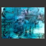 paisajes desde el submarino. popa. acrílico sobre papel (100x70)