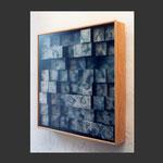 memoria. acrílico sobre papel en madera. (100x100x12)