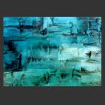 paisajes desde el submarino. babor. acrílico sobre papel (100x70)