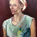 Barbara - Huile sur toile - 55x46