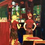 La pose - Huile sur toile - 55x38