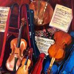 Nature morte aux violons - Huile sur toile - 92x73
