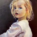 La princesse - Huile sur panneau - 61x50