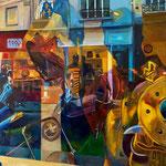 La cuirasse dorée - Huile sur toile - 130x97
