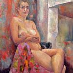 Chantal - Huile sur toile - 60x60