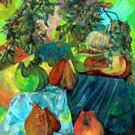 Parfum d'automne - Huile sur toile - 100x80