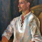 Le carpentrais - Huile sur toile - 65x54