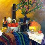 La table est mise - Acrylique sur toile - 116x89