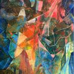 Reflet intérieur 1 - Huile sur toile - 120x80