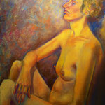 Le bain de soleil - Pastel sur papier - 65x54