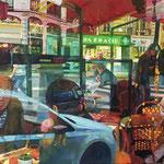 Jour de marché - Huile sur toile - 61x46