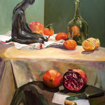 La petite sirène - Huile sur toile - 65x50