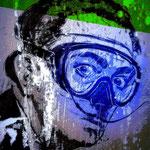 """Dali taucht""90x70cm /Street Art auf Leinwand"