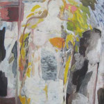 o.T.,Acryl, Kohle auf Holz, 117x103,2011