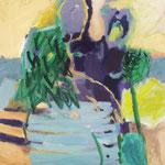 Weber_Symbiotisch, 2017, 100 x 100, Acryl auf Leinwand