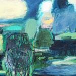 Weber_Das Blaue vom Himmel, 2017, 160 x 200, Acryl auf Leinwand