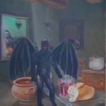Tentation 2- huile sur toile-70x60-1977