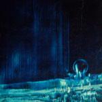 la planète bleue- huile sur carte-20x25-1974