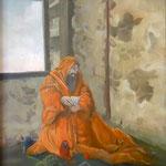 Tentation de St Antoine 1-huile sur panneau-80x65-1976