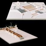 Maquette fin d'étude sur le réaménagement de la zone plaisancière/ portuaire de la Grande-Motte - Ech. 1/80 & 1/20ème.