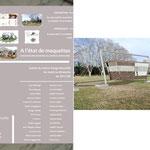 """Flyer officiel - Sélectionné à l'exposition faisant suite au concours architectural """" Ere de repos """" au Centre Design Marseille Provence"""