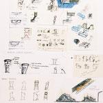 """Planche projet exposé à La Maat Gallery dans le cadre de l'exposition """" Designlemoi(s) """" - Paris."""