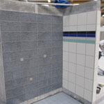Wandplatten verlegt