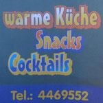 wir bieten stehts eine warme Küche vor Ort + Catering Service