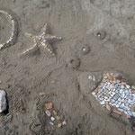 мозаики на пляже