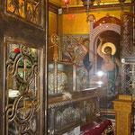 внутри ковчега со Св.мощами Димитрия Солунского
