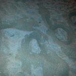 Schriftzug im Sand