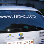Unser www.Tab-Di.com Aufkleber am Auto