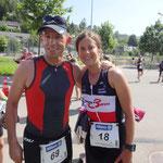 Happy! Geschafft, mit Daniel Althaus am Bantigertriathlon
