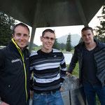 Dinu mit Viktor Röthlin und Dario Cologna
