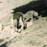Schachtarbeiten im August 1958 - Stadt- und Kreisarchiv Arnstadt, Bild und Foto Archiv