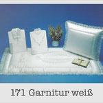 171 Garnitur weiß - 604 Damentalar - 704 Herrentalar