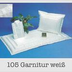 105 Garnitur weiß - 622 Damentalar