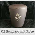 Urne mit Rose