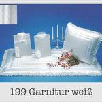 199 Garnitur weiß - 637 Damentalar - 737 Herrentalar