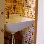 petit coin toilettes /lave mains au rez-de-chaussée du Duplex