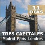 Pasando por  Madrid, Burdeos, Valle Del Loira, Paris, Calais, Dover, Londres