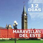 Pasando por  Washington, Niagara Falls, Toronto, Mil Islas, Ottawa, Parque Omega, Quebec, Montreal, Boston.