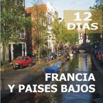 Pasando por  Madrid, Lourdes, Tours, Blois, Valle Del Loira, Paris, Brujas, Bruselas, Rotterdam, La Haya, Amsterdam.