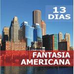 Pasando por  Washington, Niagara Falls, Toronto, Mil Islas, Ottawa, Parque Omega, Quebec, Montreal, Boston, New York.