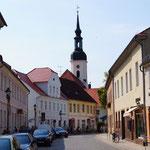 Altstadt mit Blick auf den Kirchturm der Nikolaikirche