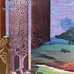 Contrepoint V, 2013, estampe et mousse, 40,5 X 30,5 X 4,2 cm