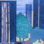Contrepoint W, 2013, estampe et mousse, 40,5 X 30,5 X 4,2 cm