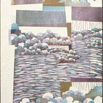 Ombres, 1995, bois gravé, gaufrure, 122 X 50 cm